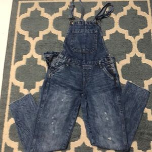 Stone washed overalls